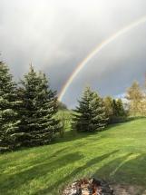 Regenbogen über der Spukwiese